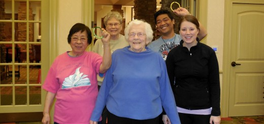 Back row, left to right: Resident Susan Morton, with staff member Jay Limio. Front row, left to right: residents Josephine Yu and Mary Kroger, and staff member Lexi Phelps. (Submitted photos)