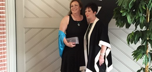 "Margaret Russell, right, with the MCR Charitable Foundation Inc., received the National Operation School Bell Award at the Assistance League ""Anything Goes"" Gala. Next to her is her assistant, Jeannie Seppala ."