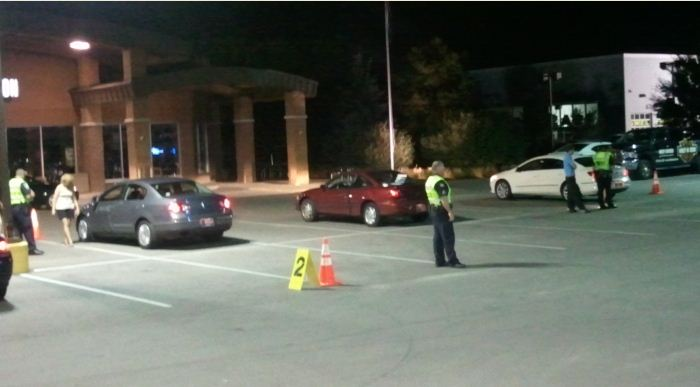 Officers perform sobriety checks along 96th Street.