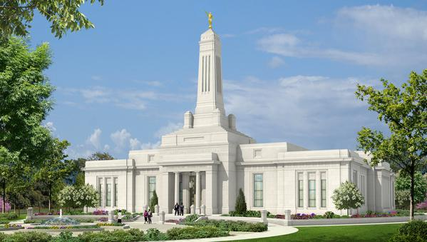 A rendering of the temple