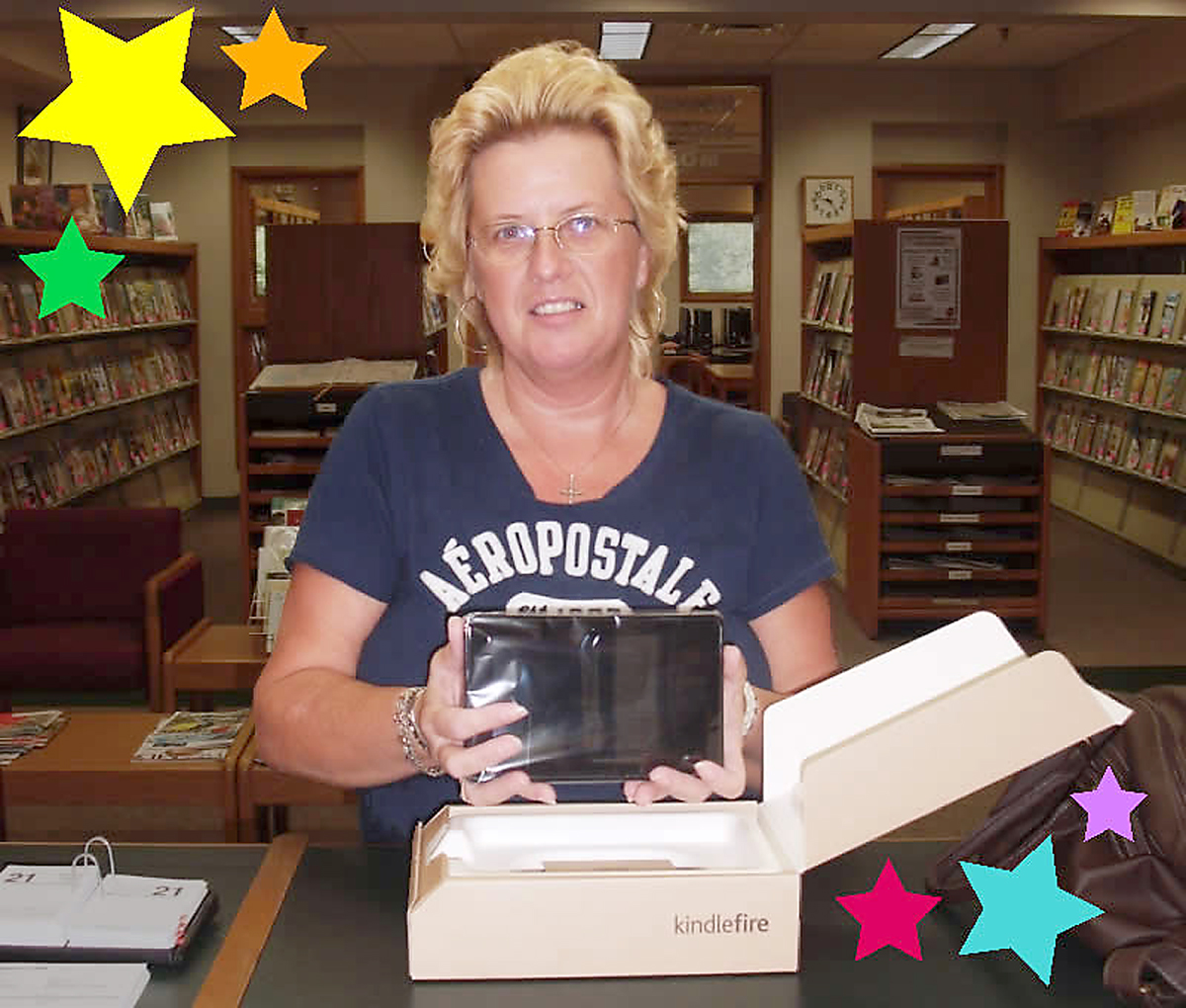 Connie Glen won a Kindle Fire (Photo submitted)