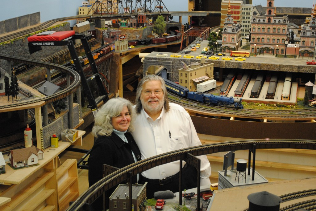 Longtime model train enthusiasts Stephen and Liz Nelson own and operate Mr. Muffin's Trains. (Photos by Maddie Scott)