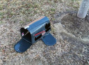 Westfield police are investigating cases of exploding neighborhood mailboxes from over pressure devices. (Photo submitted by Westfield Police Dept.)