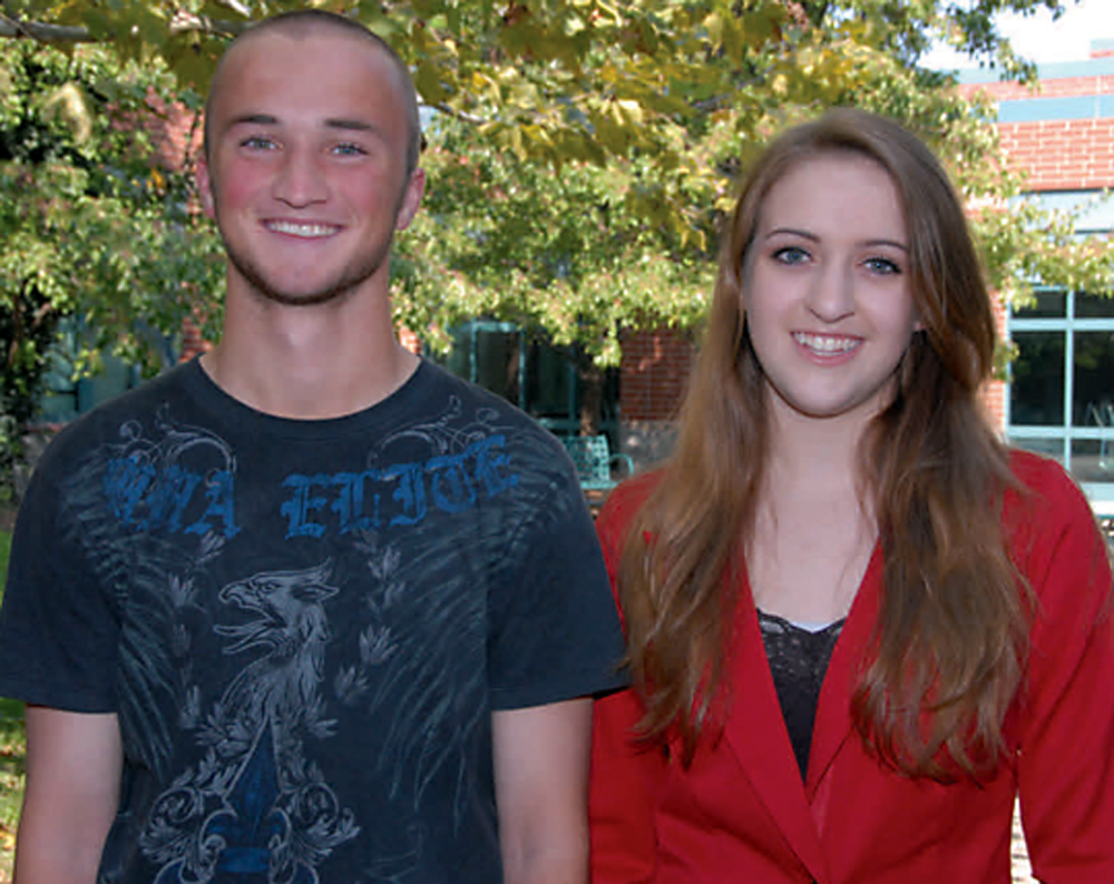 WHS Seniors Benjamin Carroll and Jaclyn Schillinger are 2013 National Merit Semifinalists. (Photo submitted)