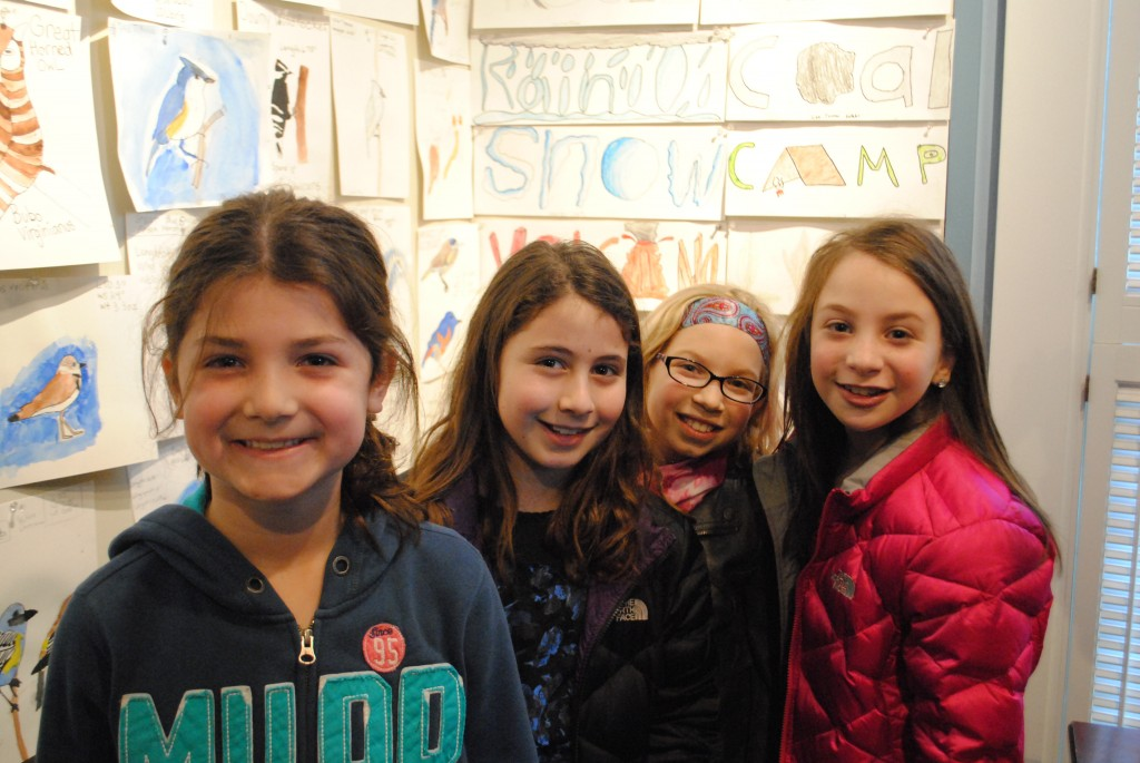 Towne Meadow students Cate Jaccobson, Olivia Goldblatt, Jenna Himelstein and Sophie Sinder all had artwork on display.