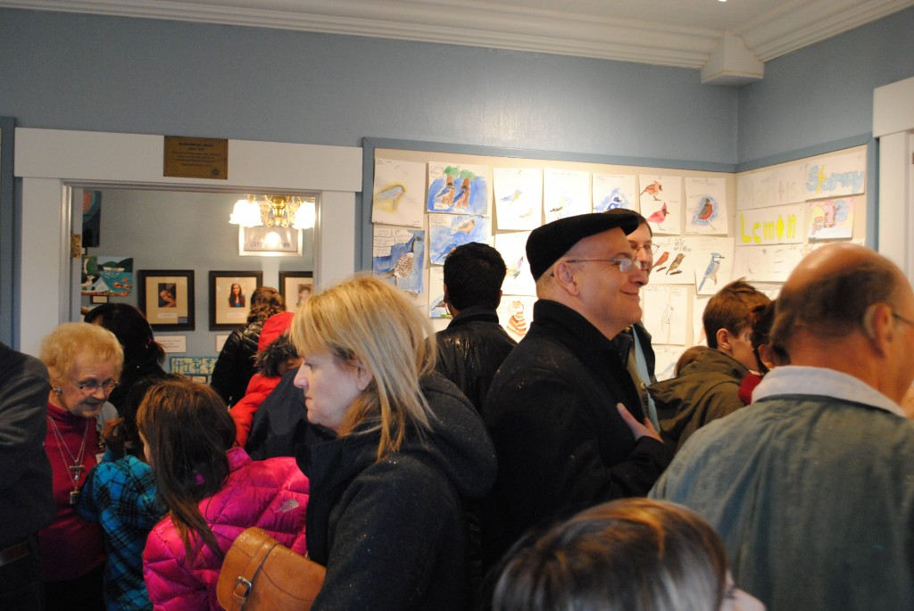 Despite the heavy rain, more than 340 people packed into the gallery throughout the day.