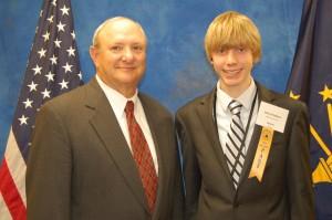 State Sen. Luke Kenley and Payton Stanley