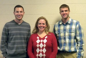 From left: Westfield High School teachers Kurt Frederick, Jen Hasler-Troutman and Mark Ewing. (Photo by Anna Skinner)