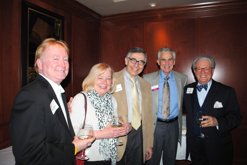 From left, Ted Givens, Rosemary Waters, Frank Basile, Stan Hurt and Stephen Taylor