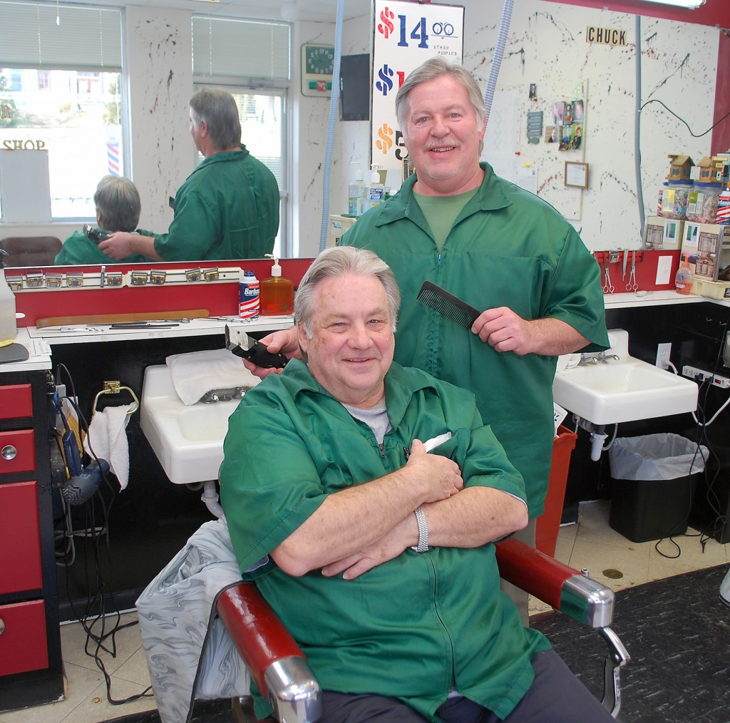 Tony Laurenzana, seated, and Chuck Barrick at their new shop location, 120 Camilla Ct. (Photos by Robert Herrington)