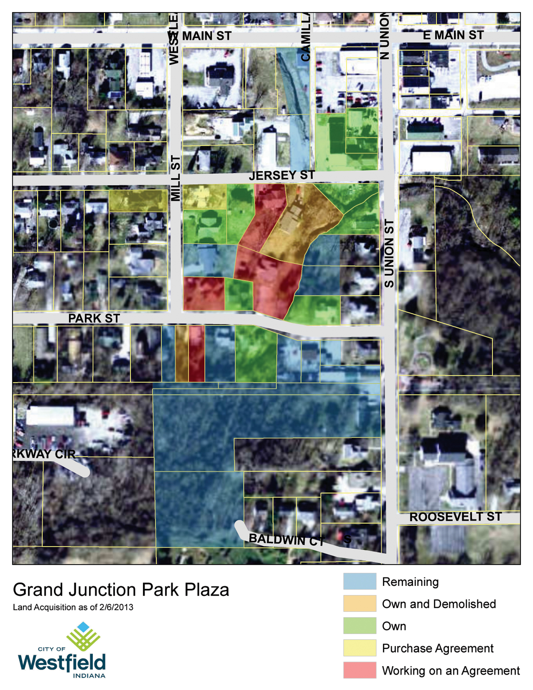 Grand Junction Land Acquisition Map