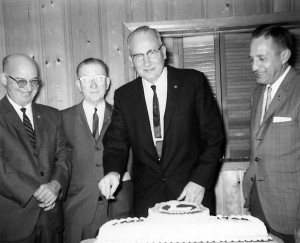 Westfield Lions Maurice Booker, from left, Brian Ross, Richard McMullen and Roy Hadley celebrate the club's 35th anniversary on Oct. 7, 1965.