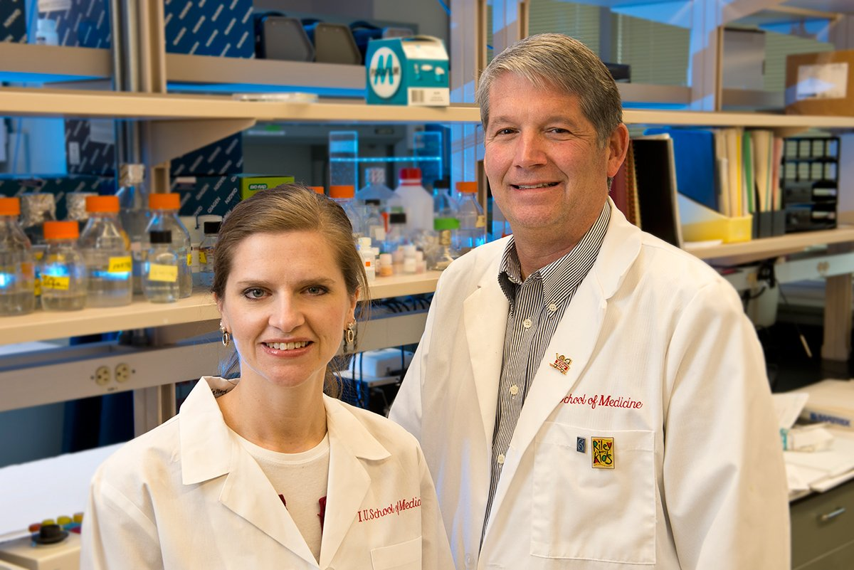 Melissa L. Fishel and Mark R. Kelley, both at the IU School of Medicine, were awarded a five-year grant from the National Cancer Institute of the National Institutes of Health.