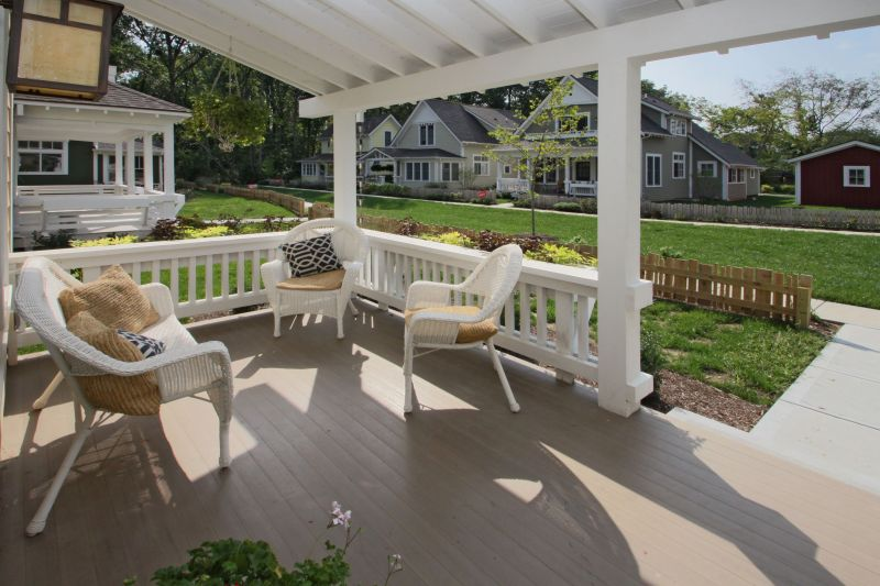 Inglenook focuses on creating an intimate setting by being designed around large front porches and a shared community green space between rows of homes. (Submitted photo)