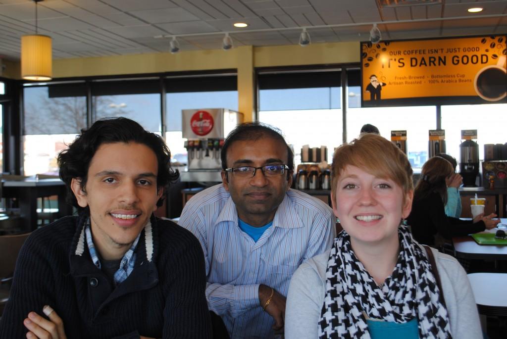 From left, Omar Muniz, Rajesh Karmani and Julie Carlson. (Photos by Maddie Scott)