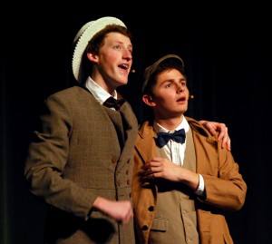 """Cornelius Hackl (Craig Thompson) tells Barnaby Tucker (Nathan Fauntleroy) to """"Put On Your Sunday Clothes."""""""