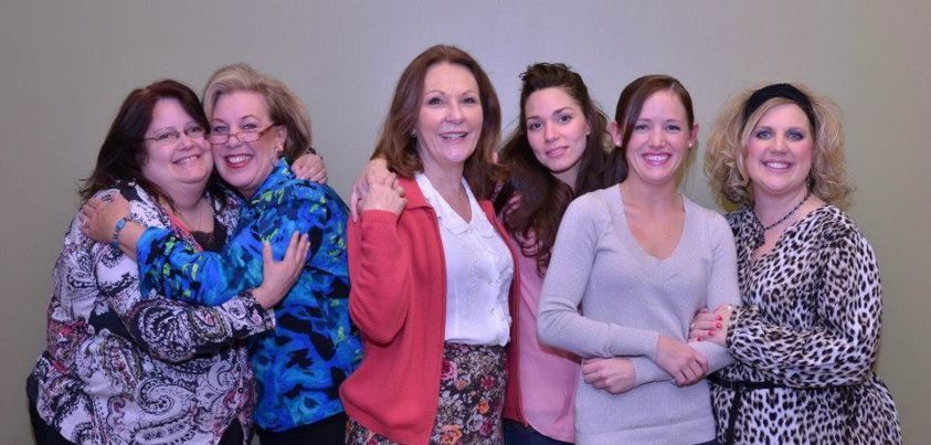 From left, Lori Raffel (Ouiser), Joellyn Young (Clairee), Vickie Cornelius Phipps (M'Lynne), Sara McGee (Shelby), Casey Votaw (Annelle), Laura Baltz (Truvy). (Submitted photo)