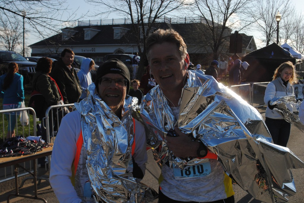 "Robert Klawans of Buffalo Grove, Ill., and Kelly McGovern of Bartlet, Ill., participated in the half-marathon. ""We did a little slower than we would have liked, but the course was tough!"" said Klawans."