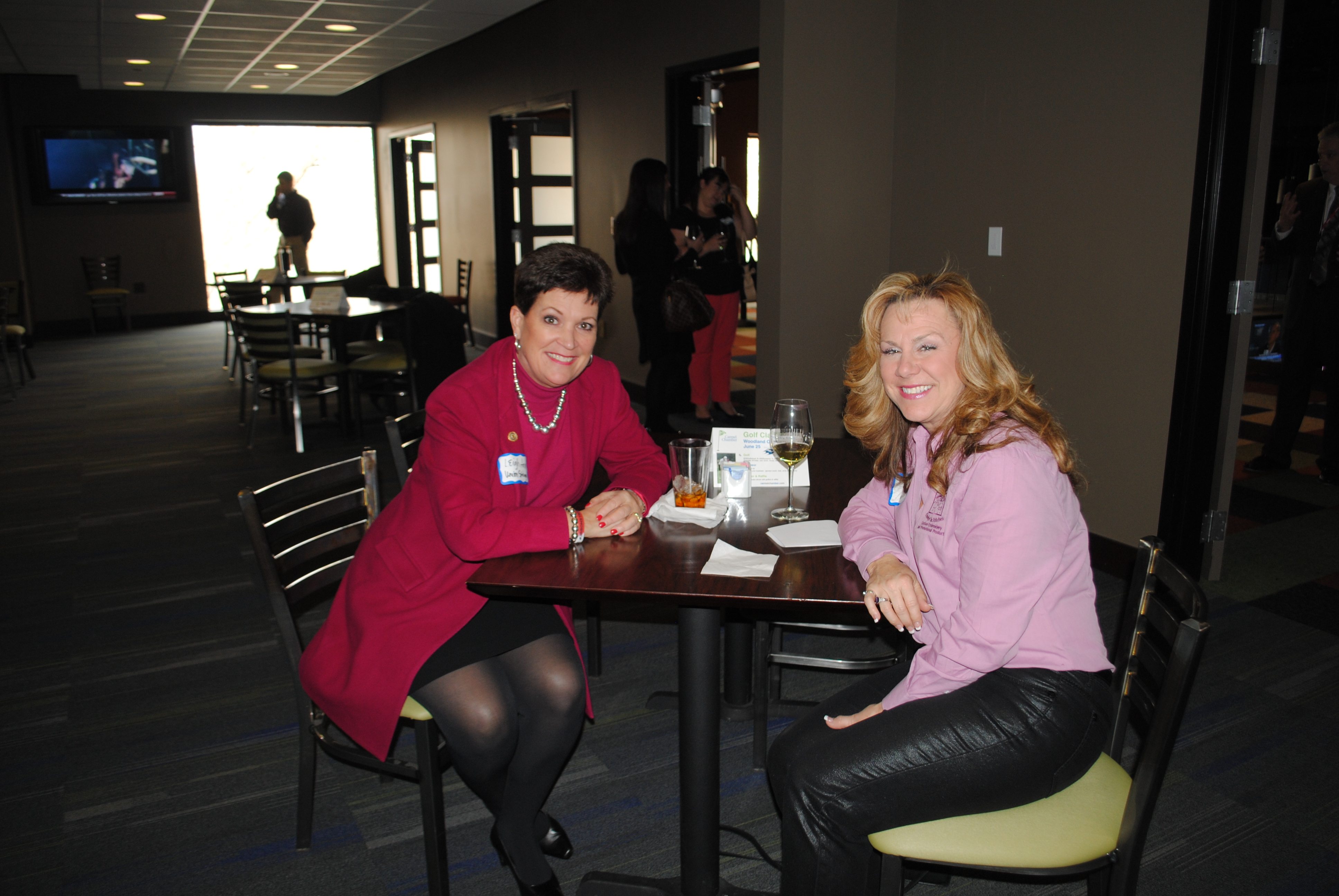 From left, Leigh Ann Clayton, Union Savings Bank's Vice President of Sales and Cindy Johnson, Cindy's In Stitches.