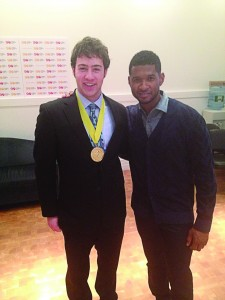 with Usher