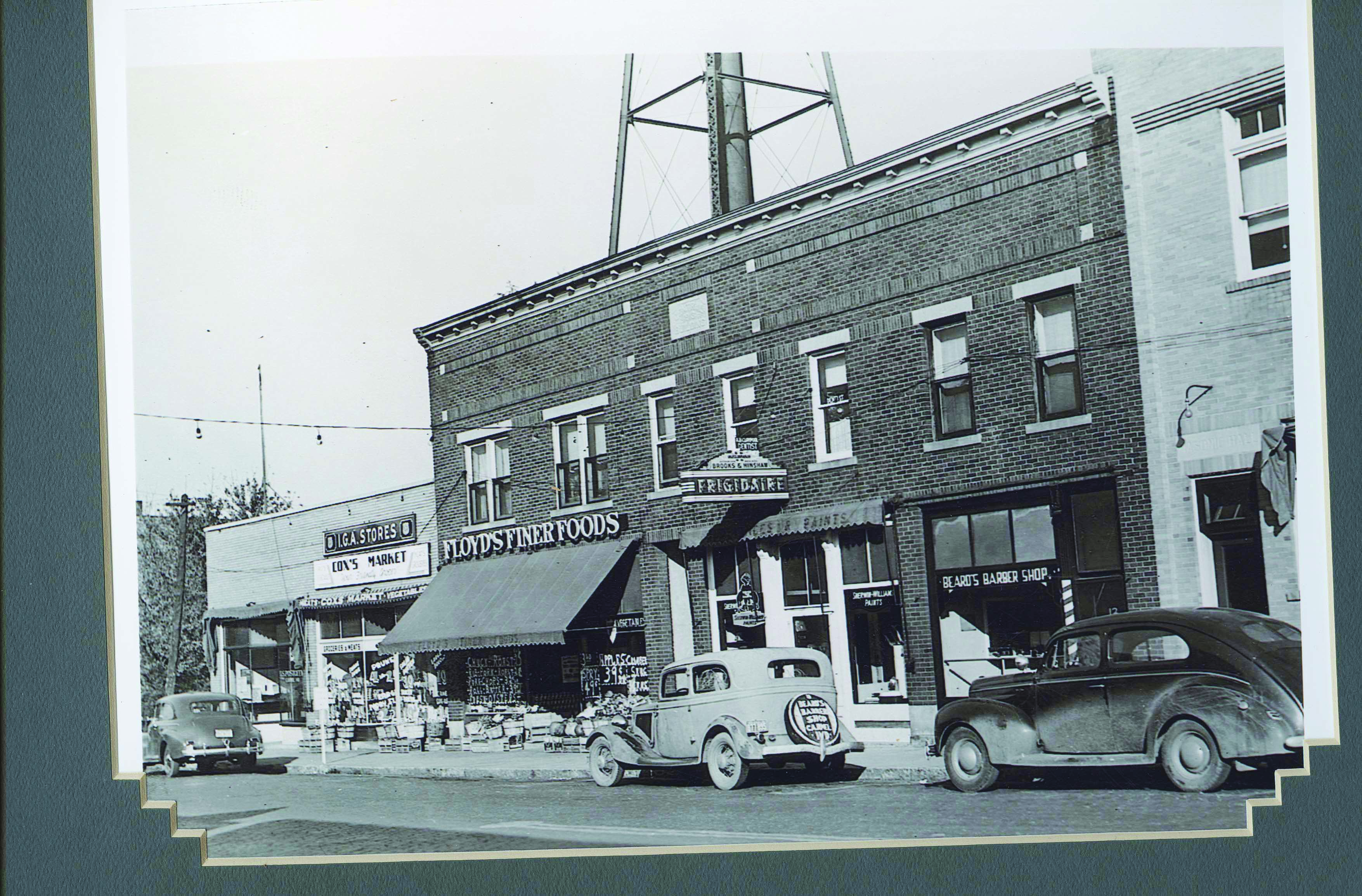 Cutline: Carmel's West Main Street in 1950. (Photo by Buddy McCart)
