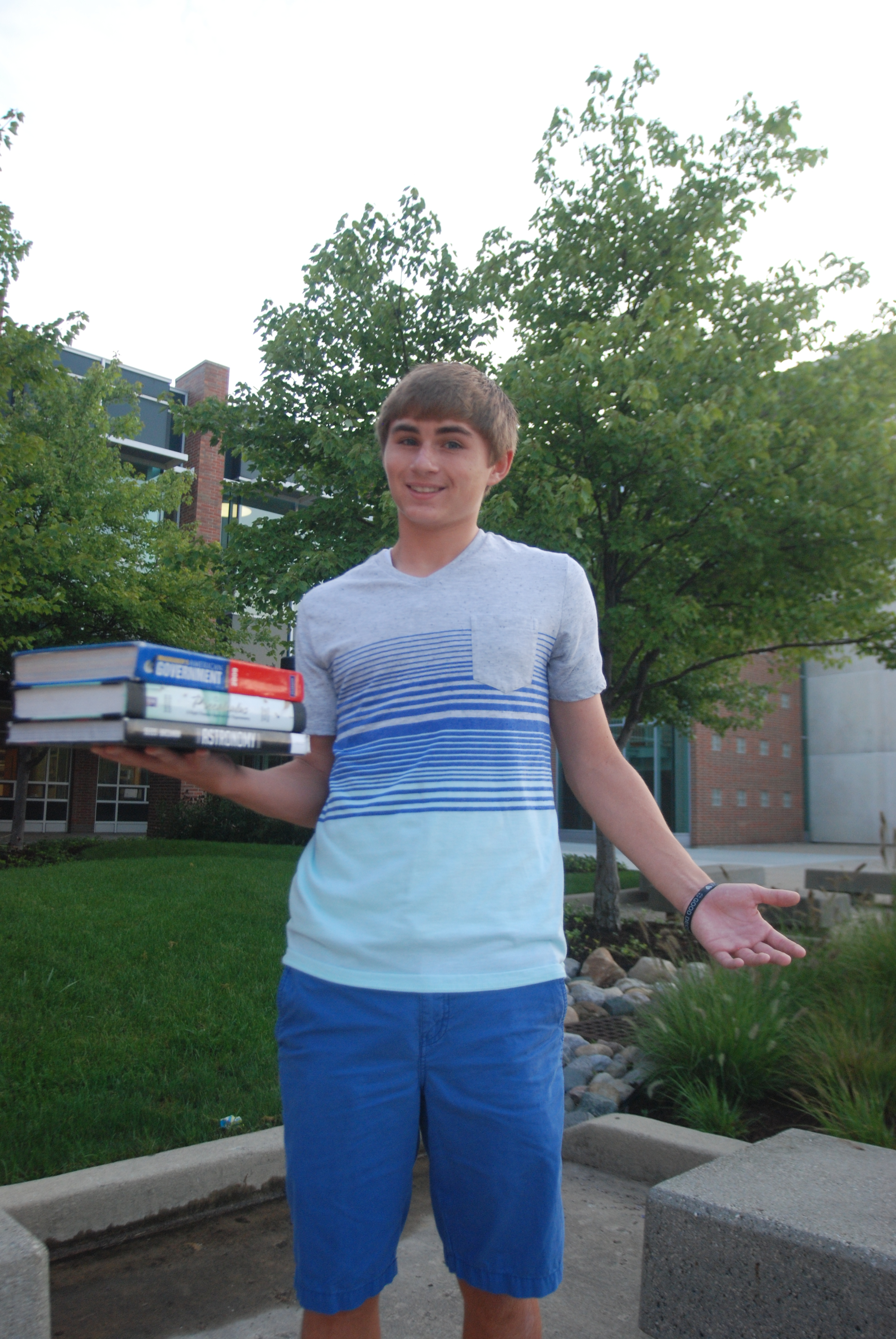On the Cover Carmel High School's record number of students such as senior Michael Cheesman, who have taken advanced placement courses has the the school national recognition.