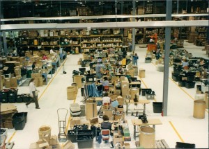 The interior of IMMI provides warehouse and manufacturing spaces at the Westfield headquarters.