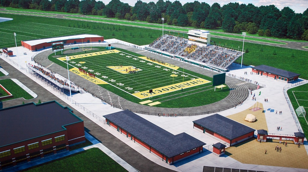 Artist's rendering of Community Stadium