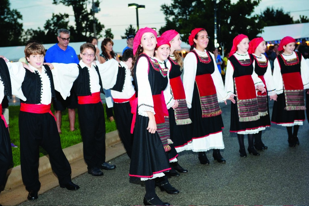 Members of the Youth Holy Trinity Hellenic Dance Troupe perform.