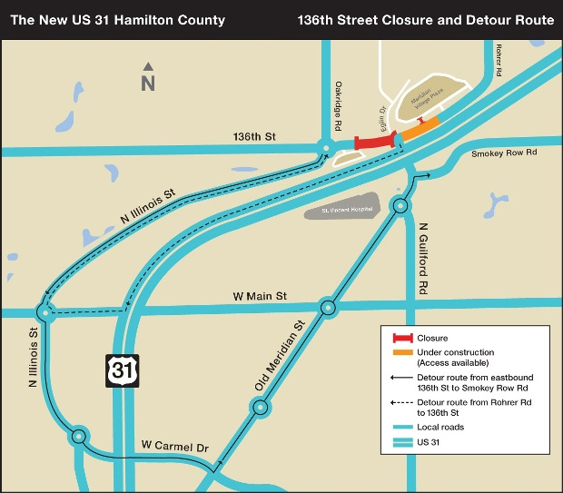 136th closure