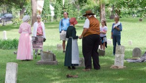 A 2012 stop at the Anti-Slavery Cemetery in Asa Bales Park. (Photo by Robert Herrington)