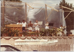 The Carmel Symphony Orchestra prepares for a performance at Westfield Arts Fair in 1979. Photo courtesy of Carmel Symphony Orchestra