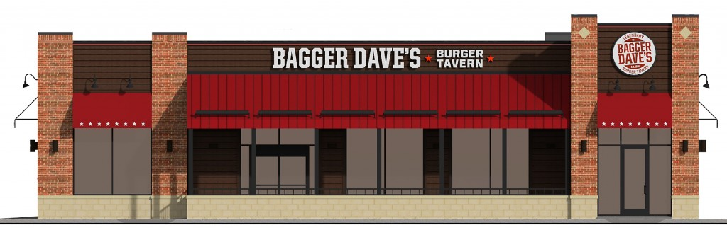 An artist rendering shows what the proposed Bagger Dave's Burger Tavern building will look like to motorists along 146th Street.
