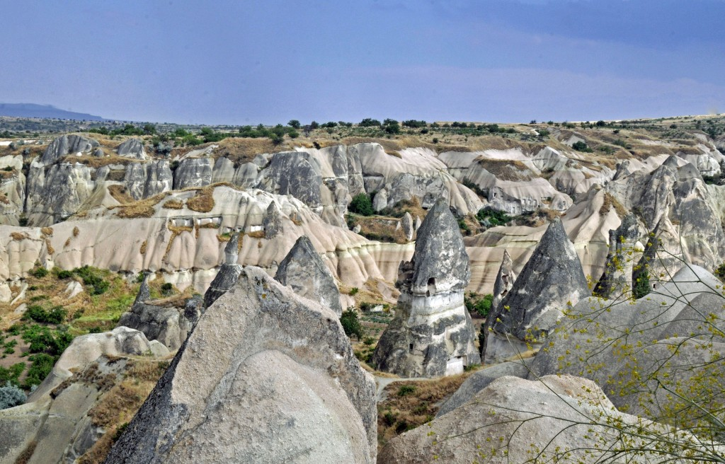 Homes have been created from hollowing out the soft lava of the fairy chimneys. (Photo by Don Knebel)