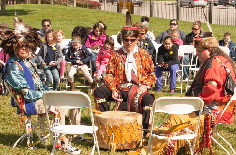 Mike Pace, an experienced specialist and interpreter in Conner Prairie's Lenape Indian Camp, as well as a member of the Lenape Indian Tribe, said he educates visitors about accurate facts of Indian tribes and dispels the myths created from TV or rumors. (Submitted photo)