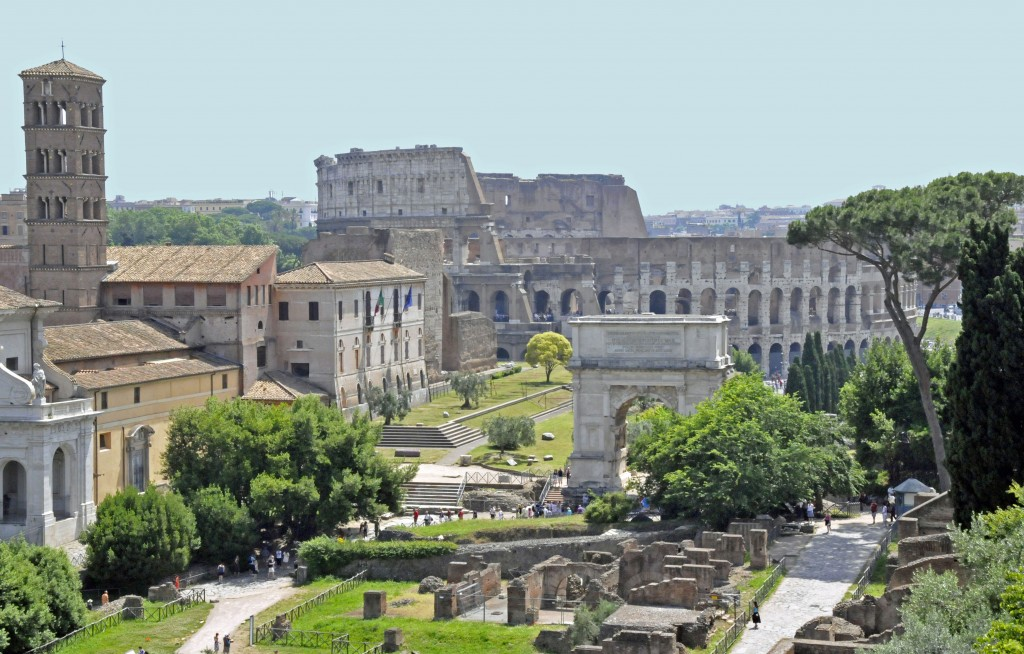 The Roman Coliseum and Arch of Titus. (Photo by Don Knebel)