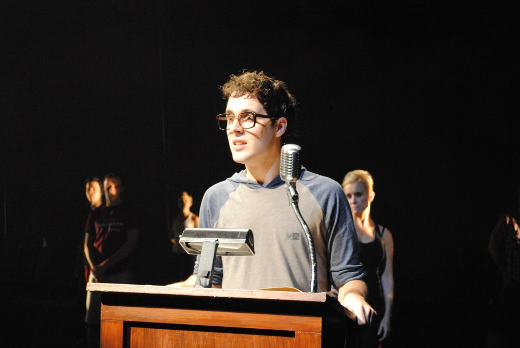 """Ethan Litt, as Pippin, expresses his need for purpose in the song """"Corner of the Sky"""""""