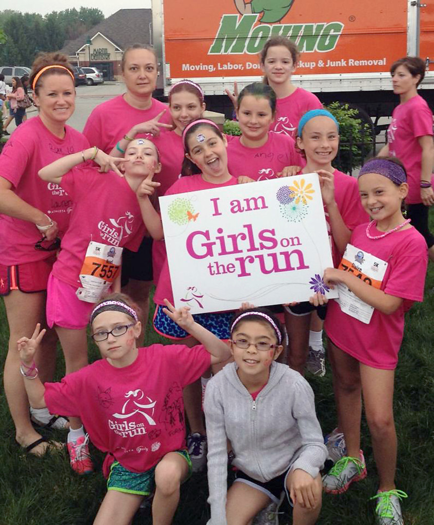 A group of Girls on the Run Hamilton County runners participate in a spring 5K run. On Nov. 16 the organization will host its first race. (Submitted photo)