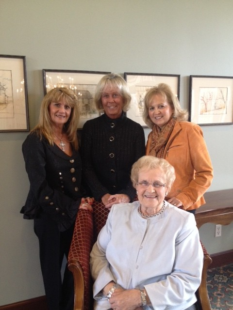 Back row from left, Kathy Henderson, Cherie Piebes and Connie Titak and Carmel Arts Council Executive Director Doreen Squire Ficara, seated, will host a gala to help raise money for arts scholarships. (Submitted photo)