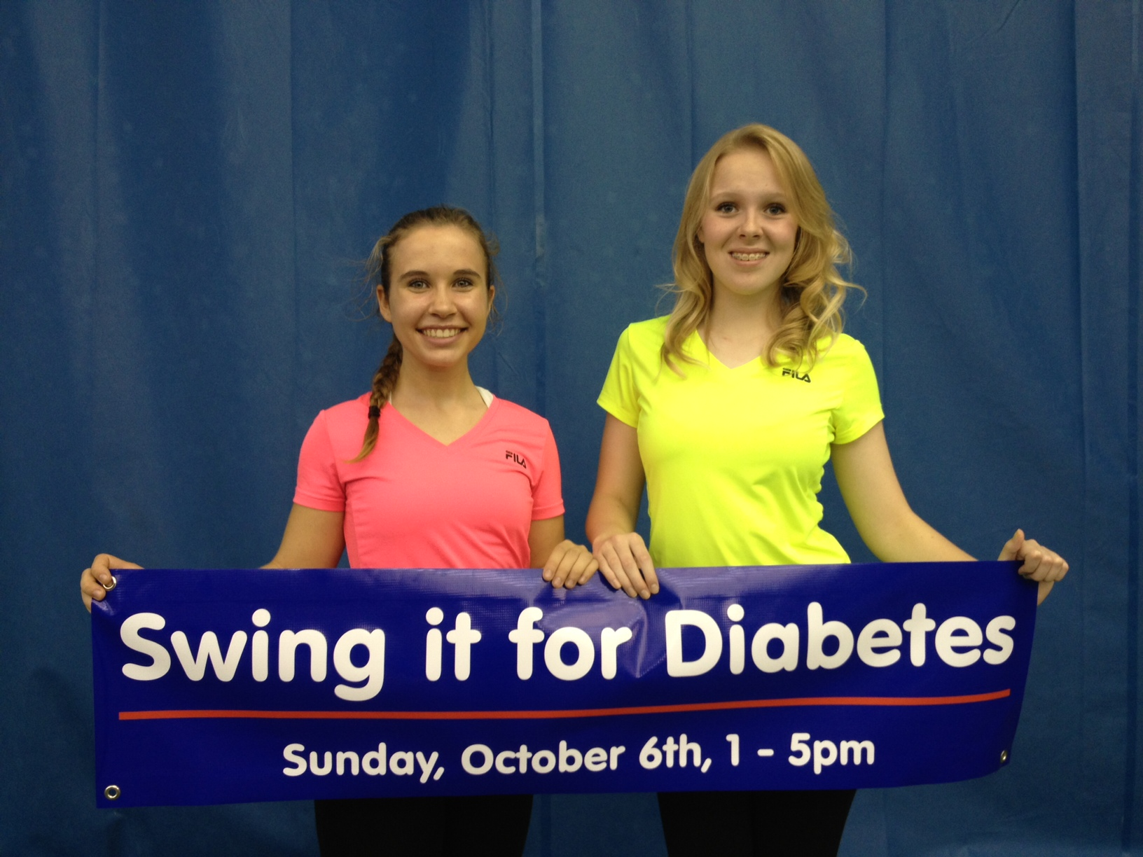 Carmel High School juniors Sophia Gould and Vivian Heerens turned their passion for volunteerism into helping loved ones with diabetes. They organized the fundraiser Swing It for Diabetes.