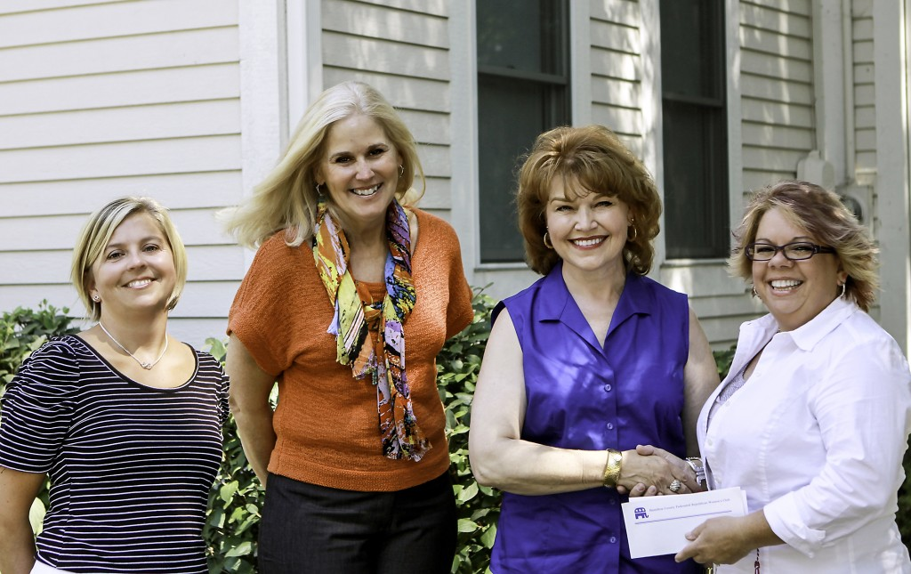 From left: Hamilton County Leadership Academy Executive Director Jill Doyle, Hamilton County Commissioner Christine Altman, Hamilton County Federated Republican Women's Club President Karen Williams Pryor and Danyele Easterhaus of Westfield. Easterhaus was awarded a $500 scholarship to attend the HCLA. (Submitted photo.)