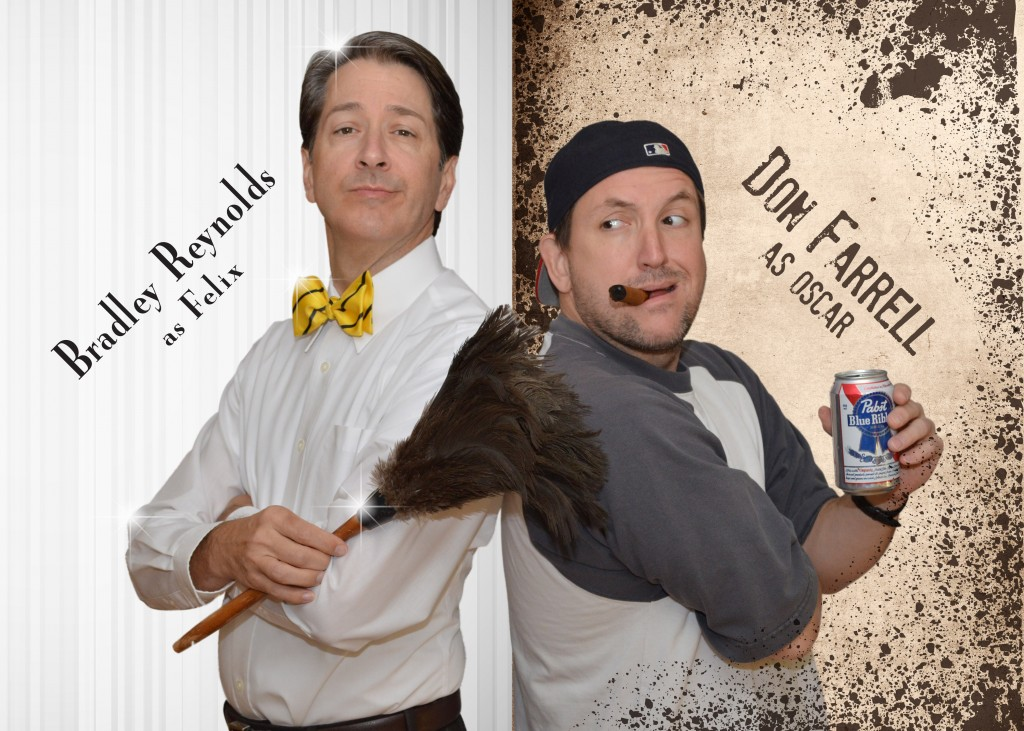 """Bradley Reynolds, left, and Don Farrell star in Actors Theatre of Indiana's production of """"The Odd Couple"""" – the original mismatched roommate story. (Submitted photo)"""