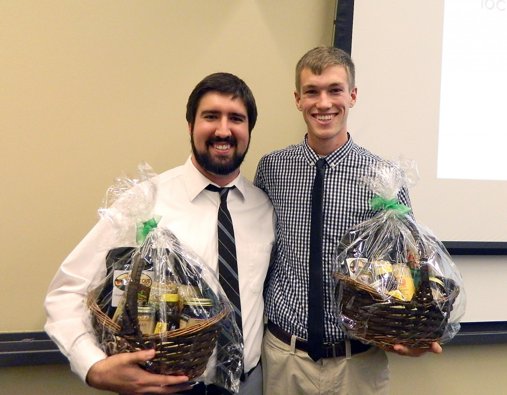 Westfield's Joseph Spaulding, left, and Derek Dixon of Plainfield won the 2013 Campus Sustainability Day Idea competition at IUPUI. (Submitted photo)