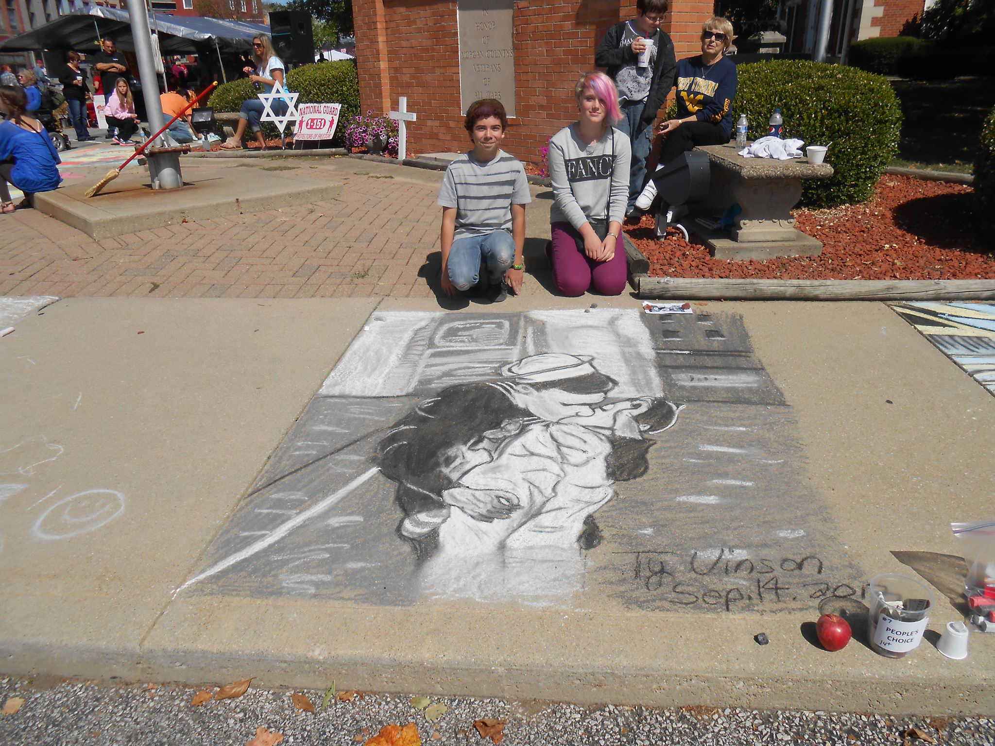 Ty Vinson's entry in Martinsville's sidewalk chalk contest.
