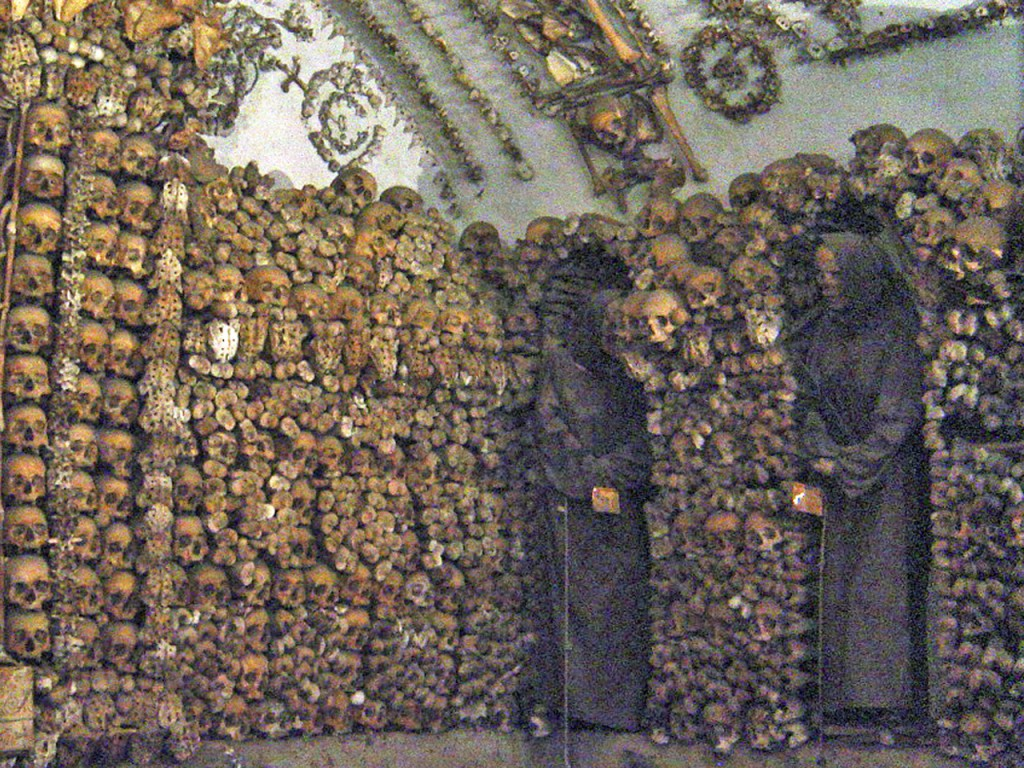 """""""Skull Room in Rome's Capuchin Chapel"""" (Photo by Don Knebel)"""