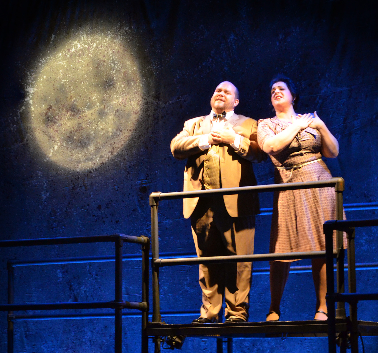 "From left, Robert Kerr and Janara Rose Kellerman star in ""Three Penny Opera"""