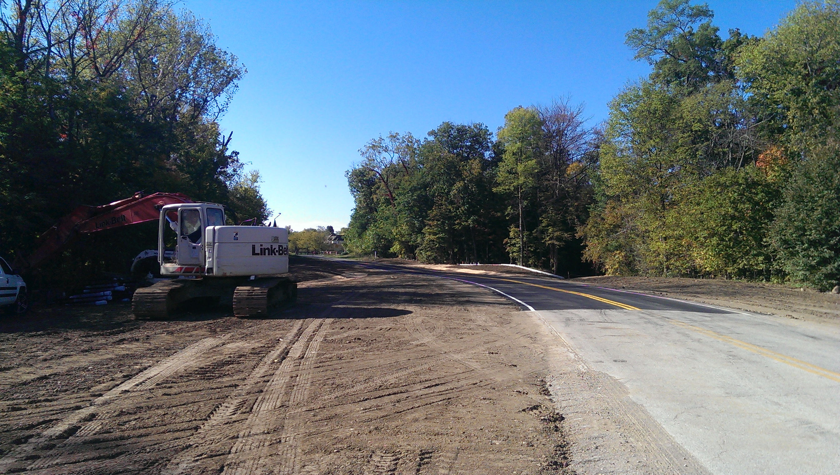 River Road south of Prairie Trace Elementary School has reopened to through-traffic.