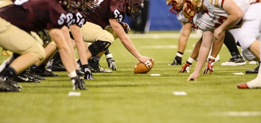 The Brebeuf Jesuit Braves faced off against the undefeated Andrean 59ers in the Indiana high school football 3A state championship game Nov. 29 at Lucas Oil Stadium in Indianapolis. (Staff photo by Kirk Taylor)