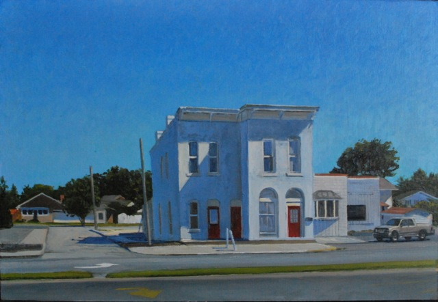 "Eric Forstmann's painting ""Life in a Blue Place"" is an example of the work he will showcase in Carmel."