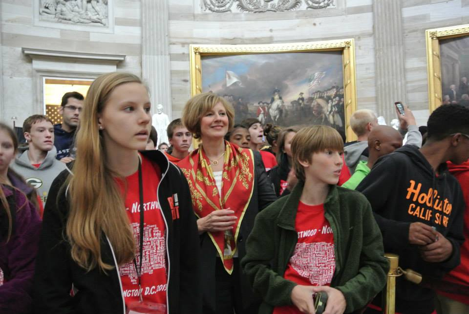 U.S. Rep. Brooks took upon herself to lead tours of the Capitol during the recent government shutdown so that visitors that had scheduled trips wouldn't be disappointed. (Submitted photo)